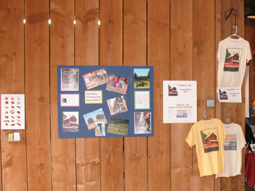 Helvetia Community Association's information display